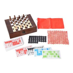 Chess, Decks of cards and Dominoes