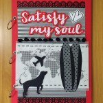 "Álbum de fotos em scrapbook ""Satisfy my Soul"""