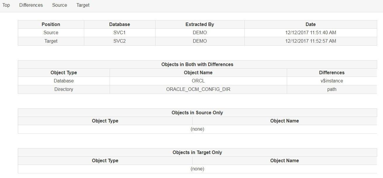oracle schema comparison script