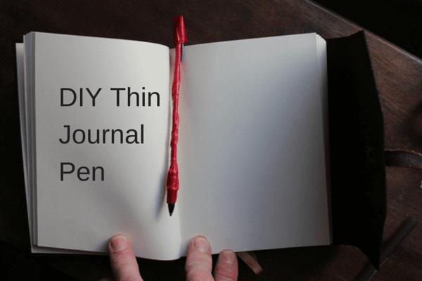 Travel hack DIY journal pen