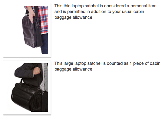 Air New Zealand cabin baggage and person items