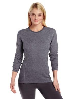 Women's merino wool base layer shirt