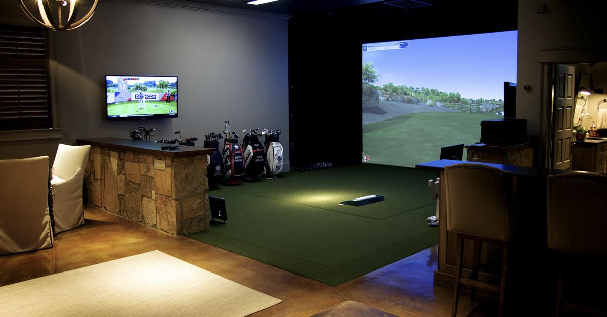 Golf simulator show case trackman golf for Golf simulator room dimensions