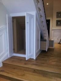 Under Stair Door & Accessories Modern White Stained Wooden ...