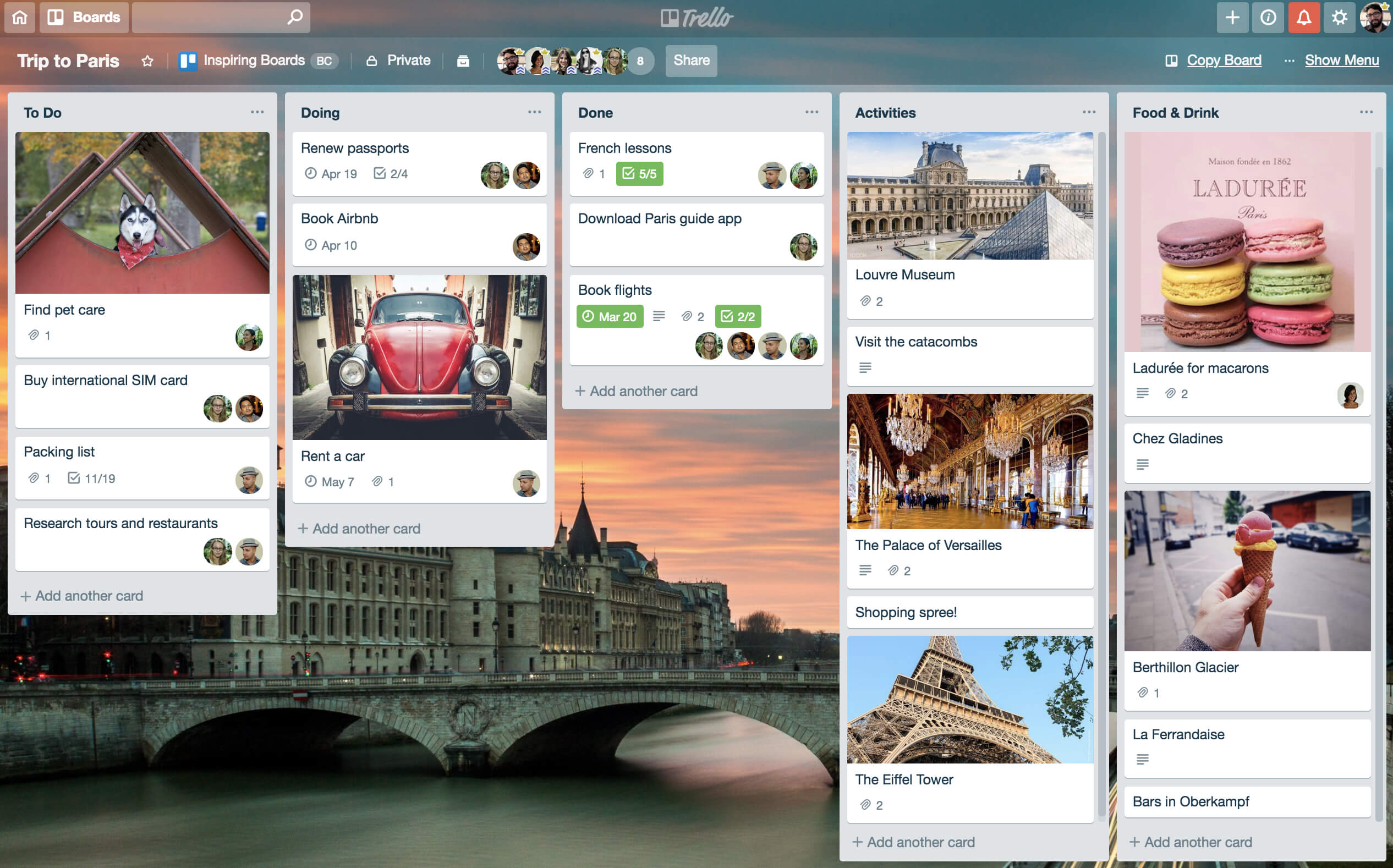 Go Via Trip Planner Plan A Vacation With Trello All