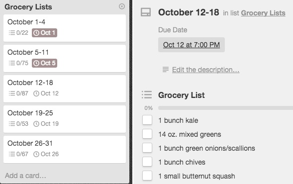 Optimize Trello At The Grocery Store