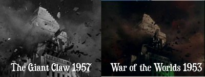 The Giant Claw - War of the Worlds comparison
