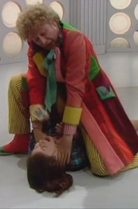 Colin Baker and Nicola Bryant in Doctor Who The Twin Dilemma