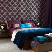 Purple Teal Bedroom