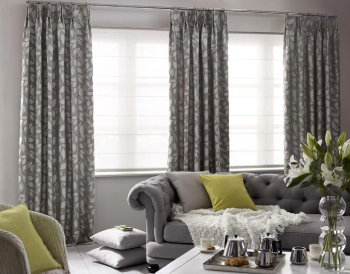 Blinds And Curtains Combination