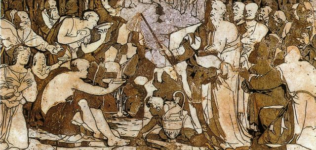 07 Domenico Beccafumi, detail of Moses Striking Water from the Rock 1524-1525
