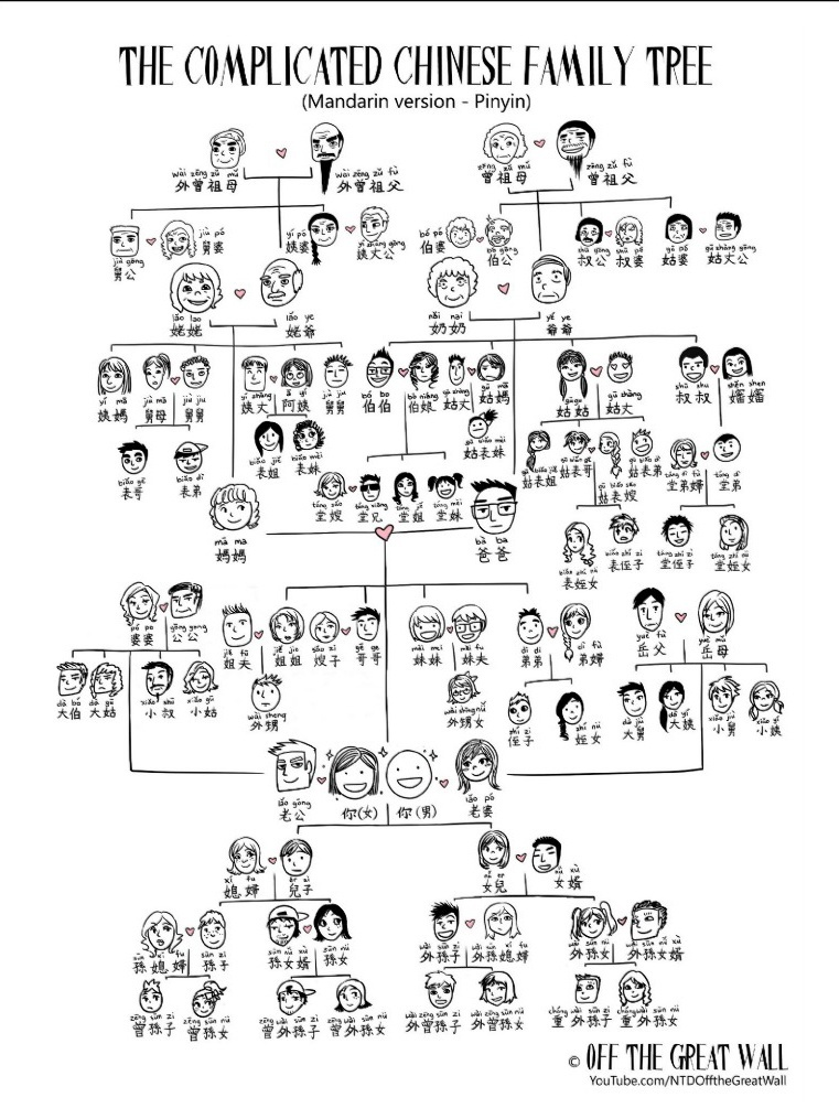 The VERY Complicated Chinese Family Tree