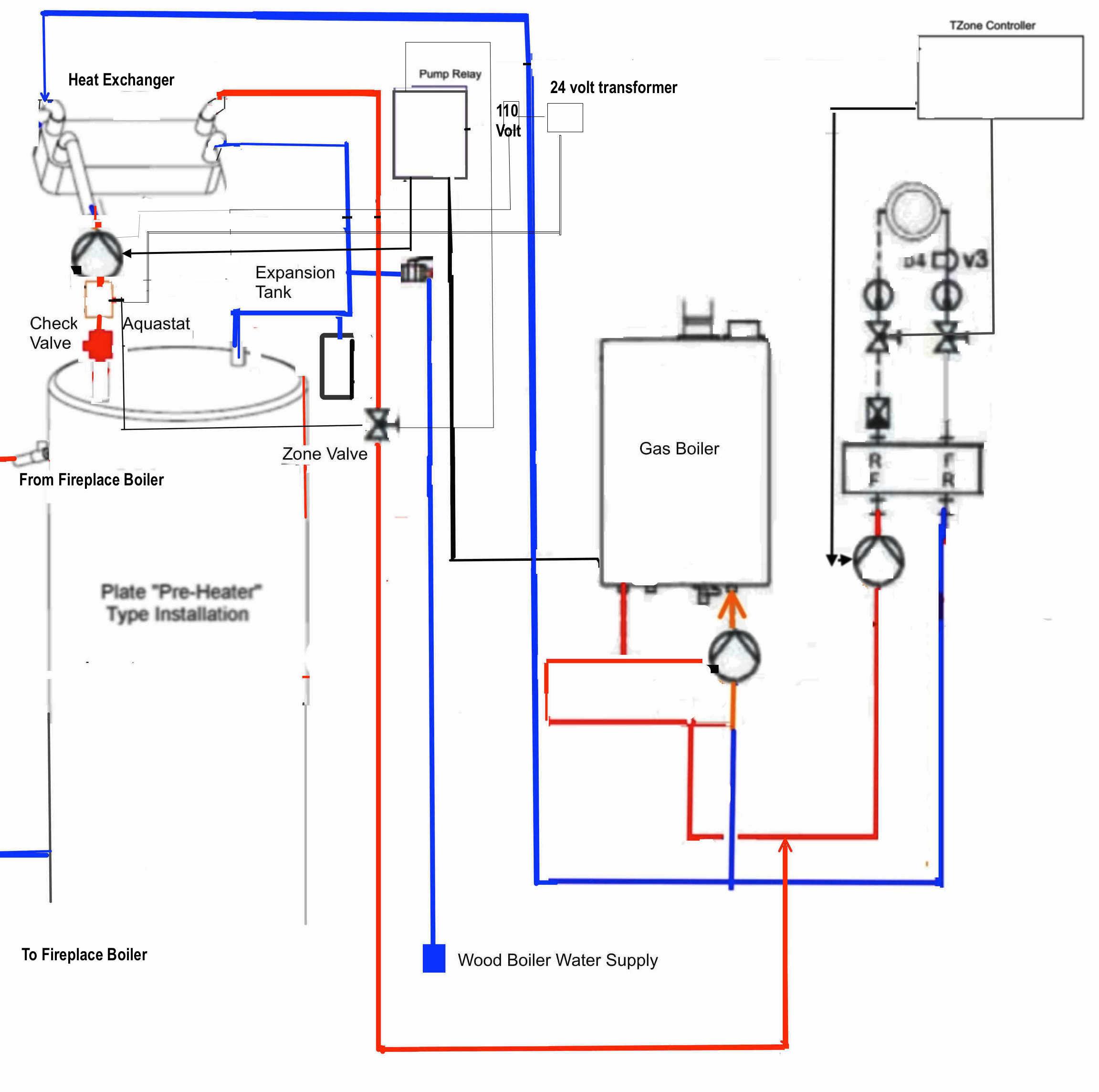 boiler thermostat wiring diagram