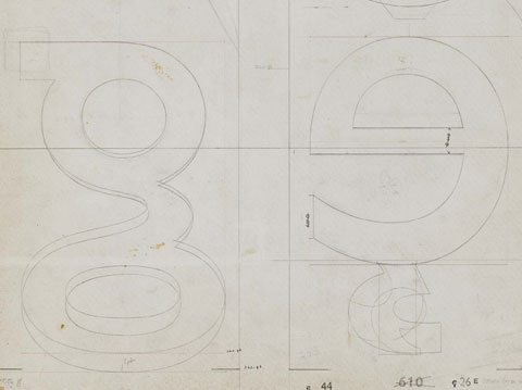 Original drawings for the Gill Sans typeface