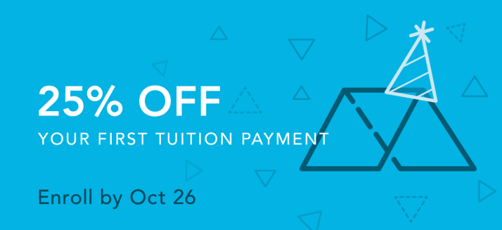 Enroll now, receive 25% tuition discount!