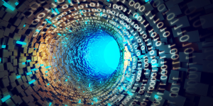 Abstract banner image illustrating data