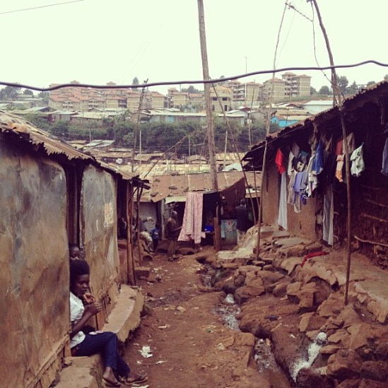 The Kibera slum in Kenya