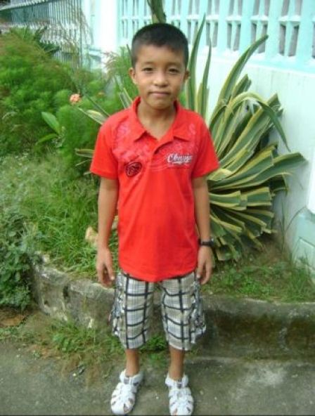 """Yam,"" Sally's sponsored child in the Philippines."