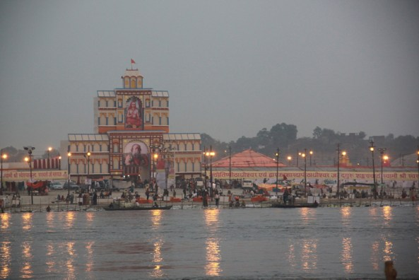 Kumbh Mela temple in India.