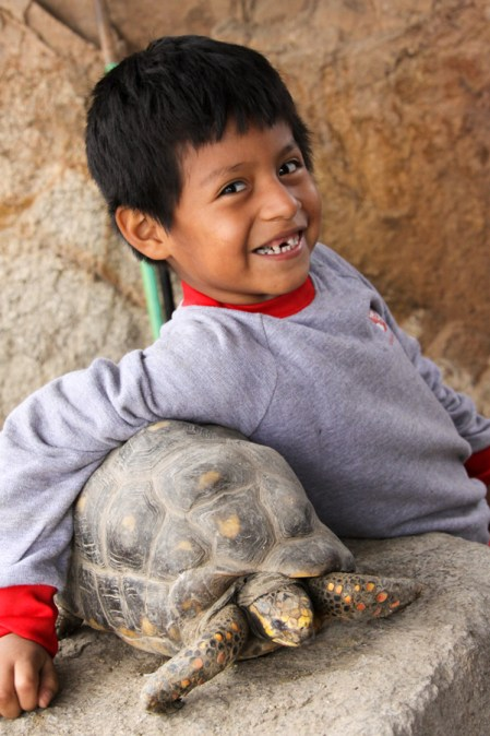 Sponsored child in Peru