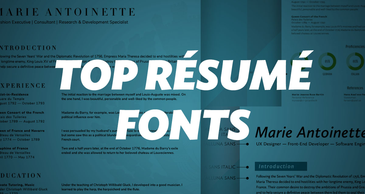 What Fonts Should I Use on My Résumé? - unionio