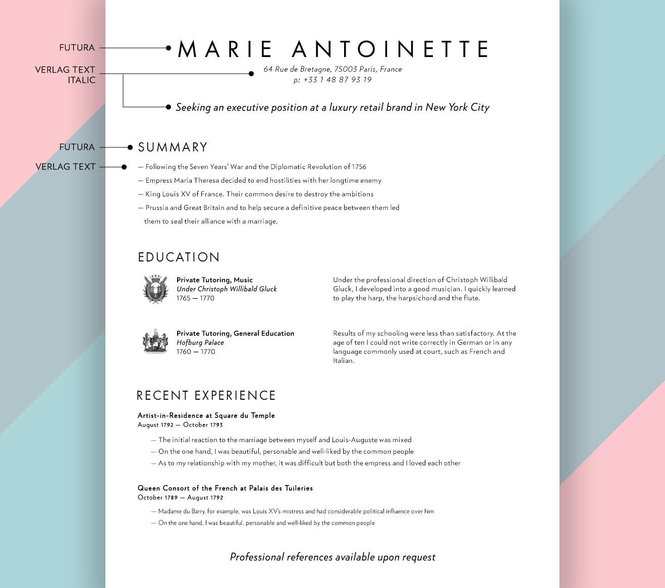 floral designer resume sample