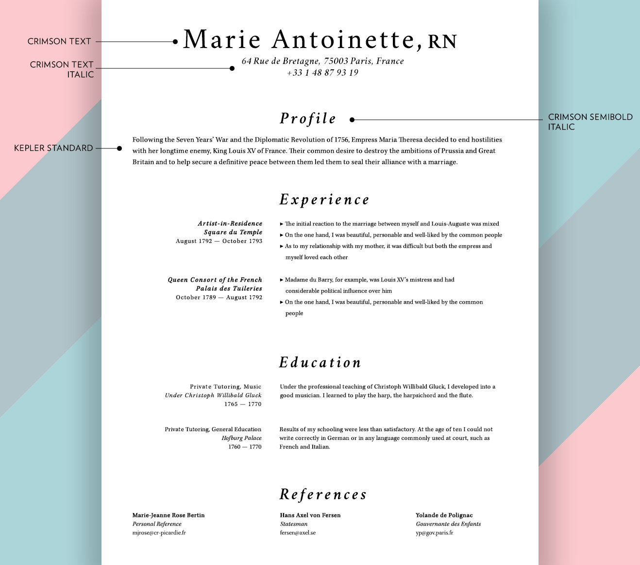 Good Resume Fonts What Fonts Should I Use On My Résumé? - Union.io