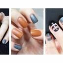 ♥ 指甲換季風潮!秋冬感十足的皮革凝膠指甲