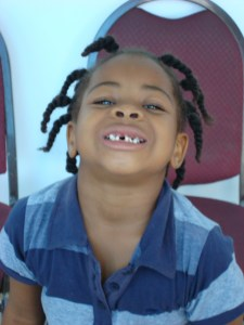 5-year old Teeshell was one of the 12,000+ of patients treated during the COMFORT's visit to Antigua and Barbuda as part of Continuing Promise '09.