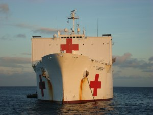 Hospital Ships like the USNS COMFORT pictured above are the capital ships of Soft Power.