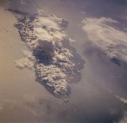 "Guadacanal Island as seen from STS-59 (Image Science and Analysis Laboratory, NASA-Johnson Space Center. ""The Gateway to Astronaut Photography of Earth."")"