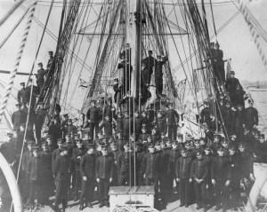 MIds aboard USS Severn 1905