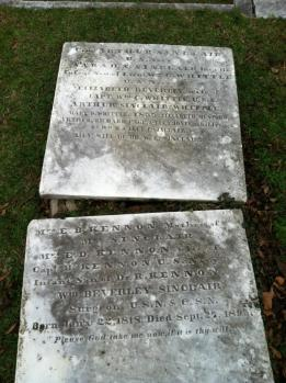 "Headstone of Commo. Arthur Sinclair, captured by his descendant Lt.j.g. Lloyd ""Link"" Mustin."