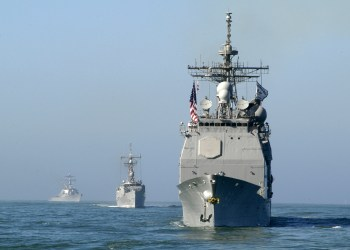 USS SHILOH (CG 67) UNDERWAY