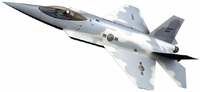 A computer-generated concept of the proposed KFX stealth fighter (ROK Air Force)