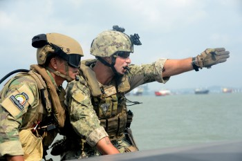 CRS-3 Conducts Interdiction Training with Indonesian Naval Special Forces