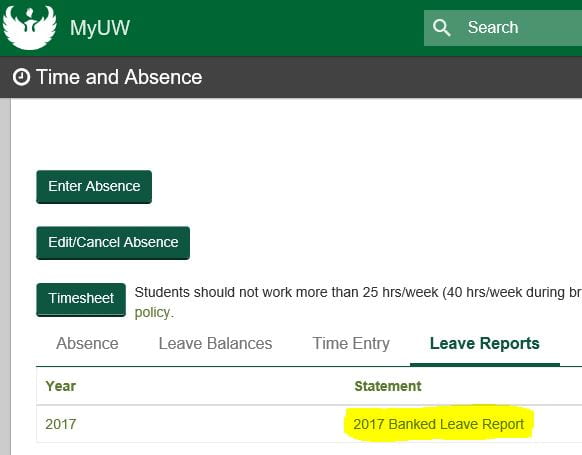 Annual Leave Conversion Forms Available for University Staff HR