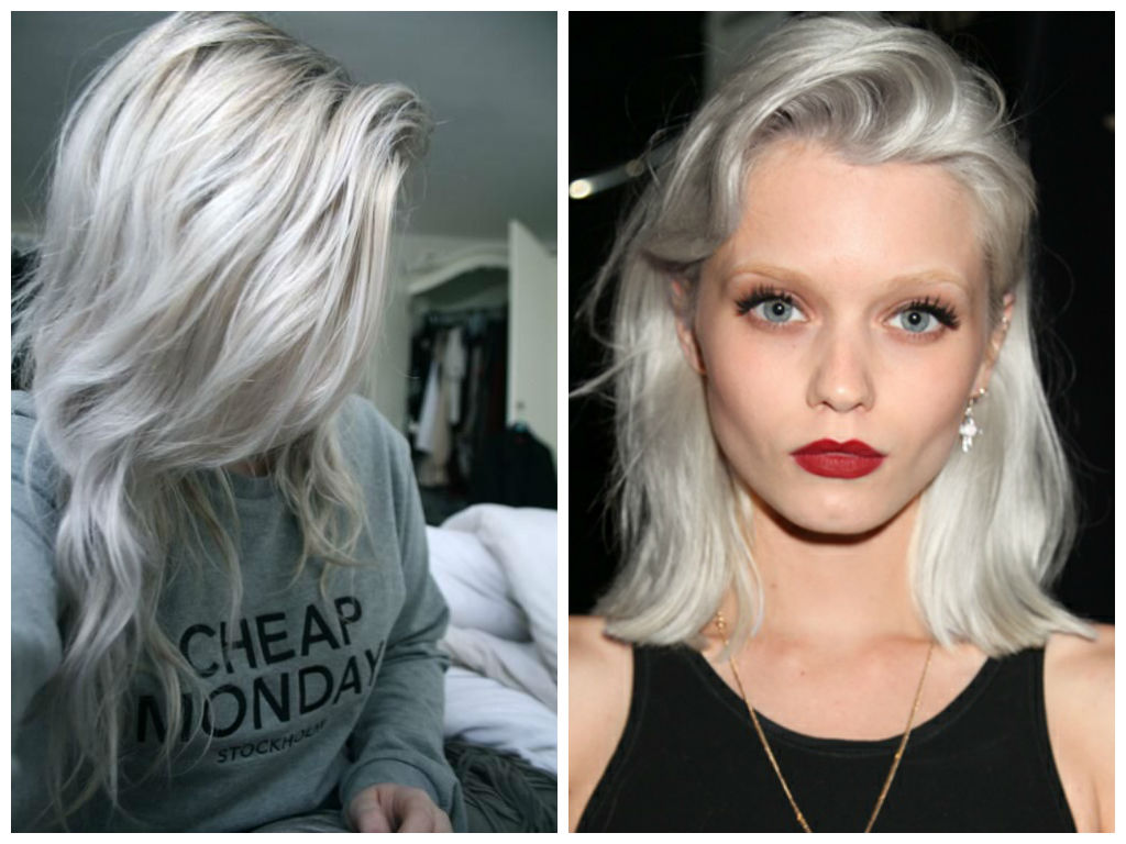 White Frosted Dark Hair With Highlights | hairstylegalleries.com
