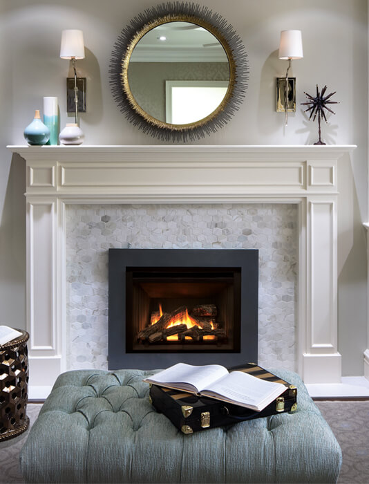 How to choose a mirror for above your fireplace valor for Choosing a fireplace