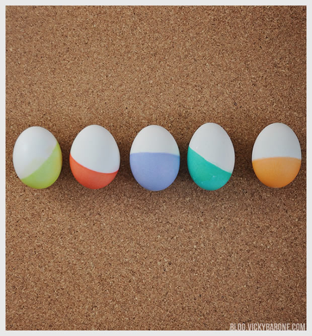 Dip-Dyed Easter Eggs | Vicky Barone