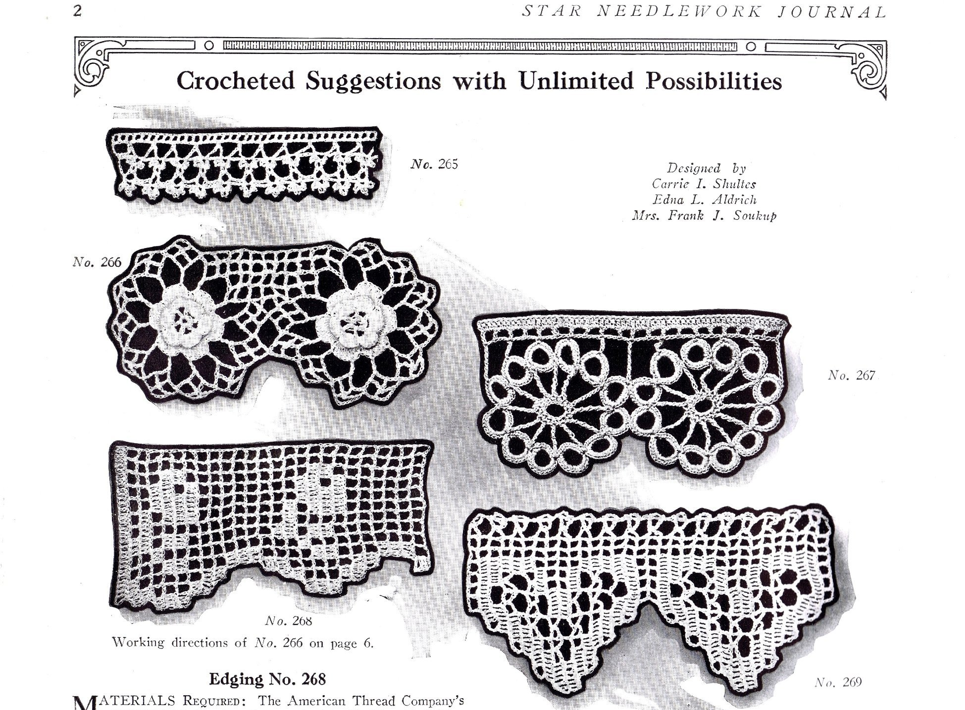 Free Vintage Crochet Edging Pattern : Free Vintage Crochet and Knitted Pattern Suggestions With ...