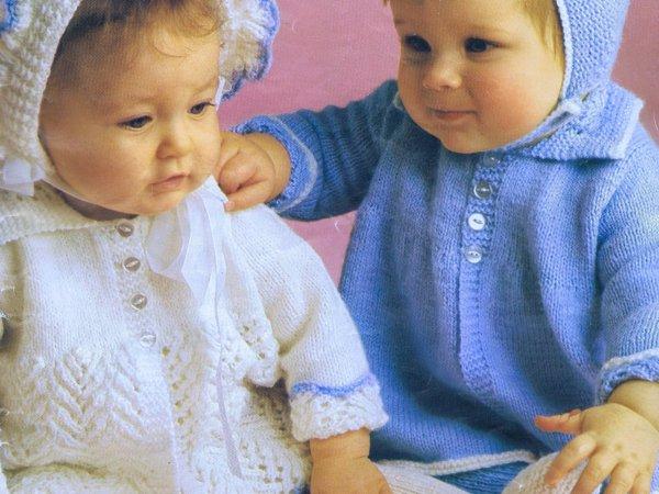baby infant knitting crochet pattern vintage 70s