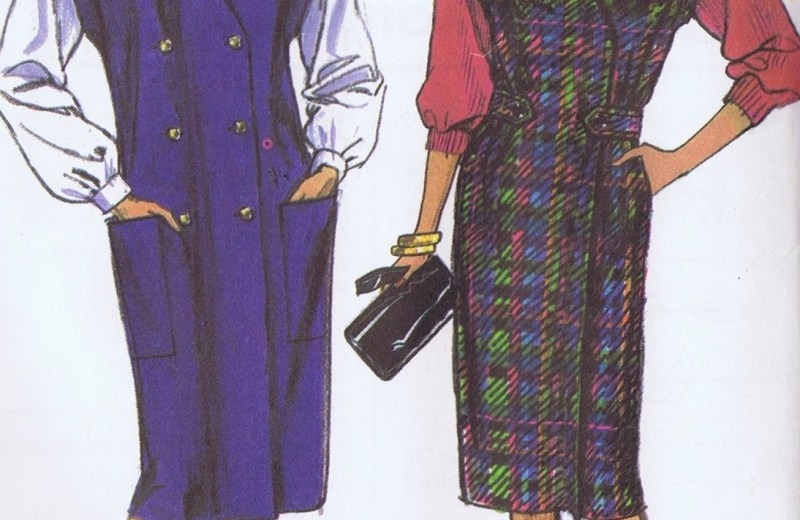 Simplicity 8166 Jumper Dress Pattern 12-18