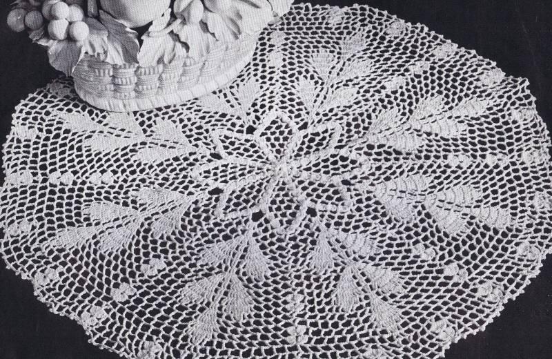Autumn Wheat Crochet Doily 151-american-thread-autumn-wheat-doily