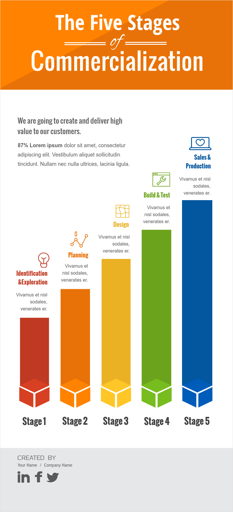 by the numbers infographic template