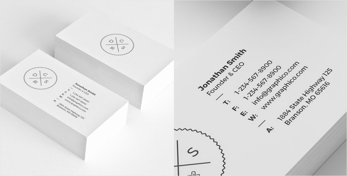Business Card Design Inspiration 60 Eye-Catching Examples Visual - buisness card design
