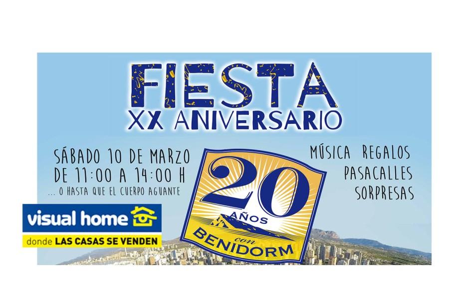 Fiesta del 20 aniversario de Visual Home en Benidorm para y por ti