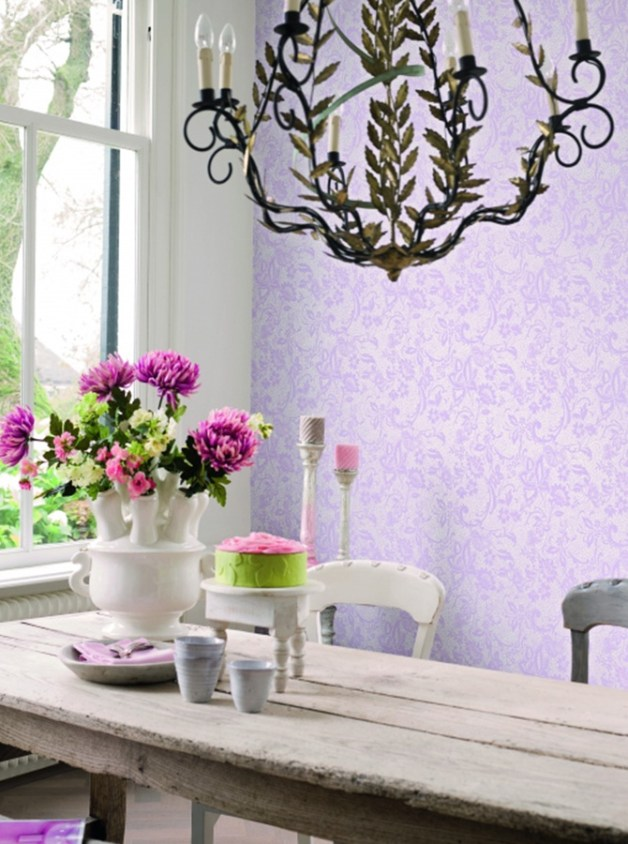 Daring Pink Lace Easy Wallpaper - R1567