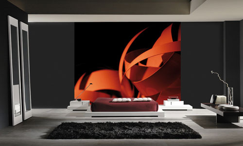Ribbon Digital Wall Mural M9019