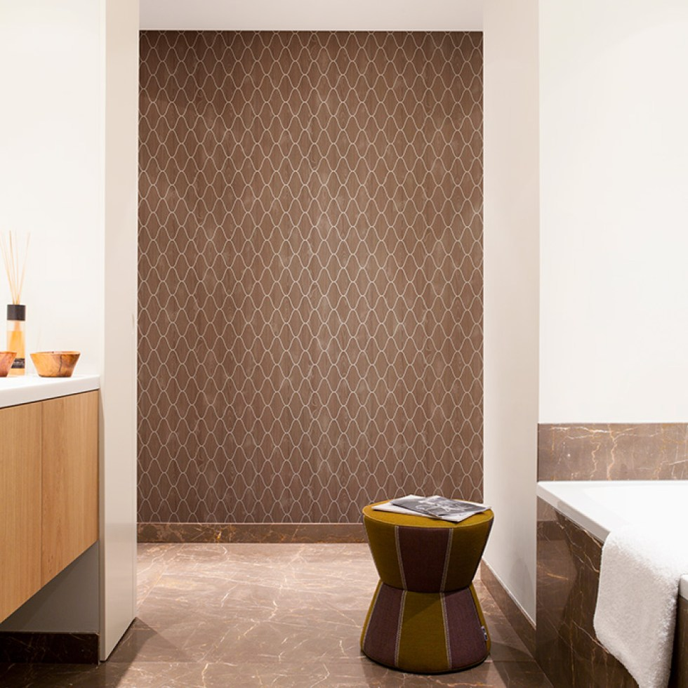 Brown Woodland Layered Faux Wood Wallpaper R2232